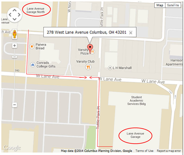 Parking close to the Varsity Club | Varsity Club - Home of the